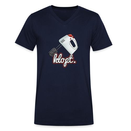 Klopt mannen v-hals bio - Mannen bio T-shirt met V-hals van Stanley & Stella