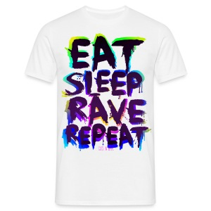 Eat Sleep Rave Repeat for white Shirts - Männer T-Shirt