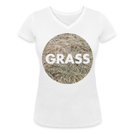 Tee shirts ~ Tee shirt col V Femme ~ Grass - Girl