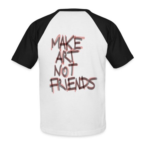 HNO2 Cookie Varsity Tee - Make Art Not Friends - Men's Baseball T-Shirt