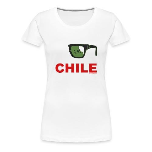 Remera premium dama Chile - Camiseta premium mujer