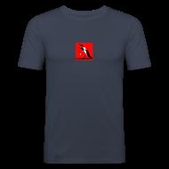 T-Shirts ~ Men's Slim Fit T-Shirt ~ SlalomSkateboards.com official 'slim'