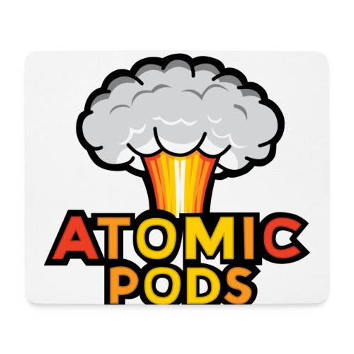 Atomic podcast White Mousepad - Mouse Pad (horizontal)