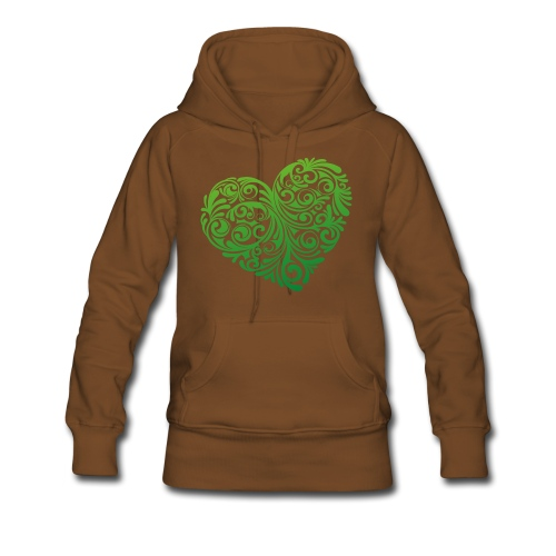 Frauen Kaputzenpulli Herz vorn - Frauen Premium Hoodie
