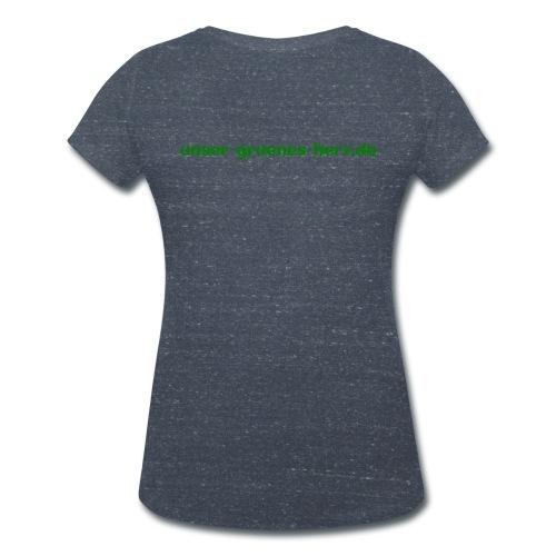 Frauen T-Shirt Herz vorn - Frauen Bio-T-Shirt mit V-Ausschnitt von Stanley & Stella
