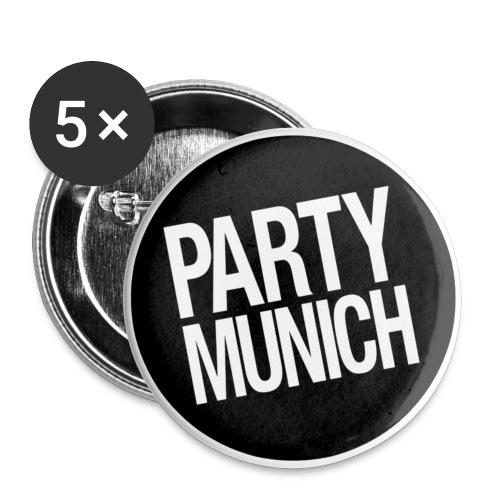 PartyMunich Buttons - Buttons mittel 32 mm (5er Pack)