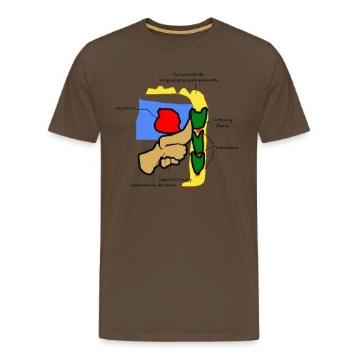 Remera hombre premium Escudo Justicialista - Camiseta premium hombre