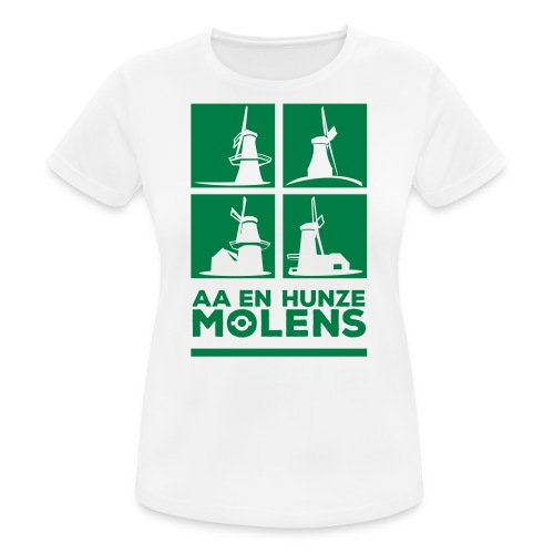 AA&HUNZE MOLENS bbb(vrouw)ademend-wit - Women's Breathable T-Shirt