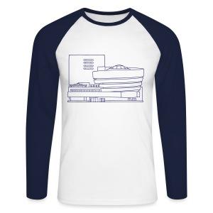 Guggenheim Museum NY - Männer Baseballshirt langarm