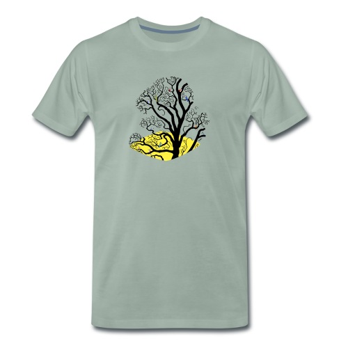 bird tree - Men's Premium T-Shirt