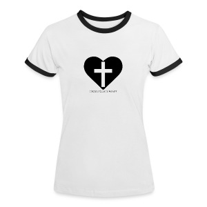 C.E.H Dam 1 - Kontrast-T-shirt dam