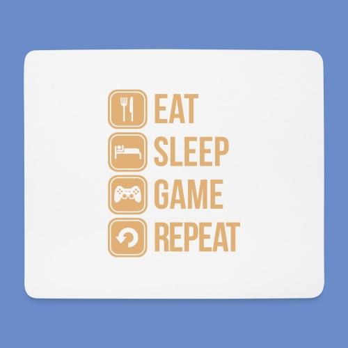 Eat,Sleep,Game,Repeat Mousepad - Musmatta (liggande format)