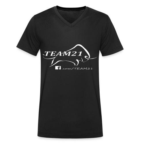 Team21 T-Shirt - Männer Bio-T-Shirt mit V-Ausschnitt von Stanley & Stella
