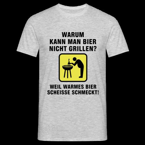 Bier Grillen - Männer T-Shirt