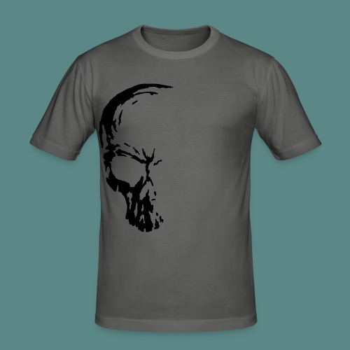 1/2 Skull - Men's Slim Fit T-Shirt