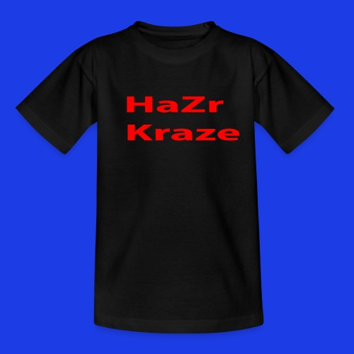 HaZr Kraze Black Tee - Teenage T-Shirt