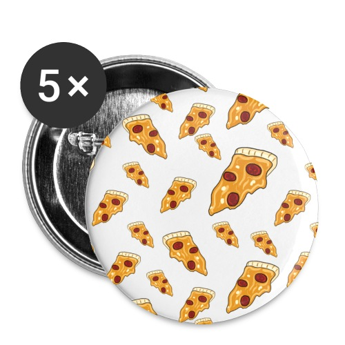 Classy Peppy Pizza Buttons - Buttons medium 32 mm