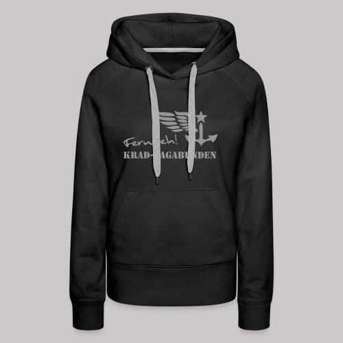 Kapuzenpulli Damen -  Fernweh (grauer Aufdruck) - Frauen Premium Hoodie