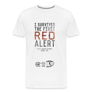 I Survived the First Red Alert - China 2015 - Men's Premium T-Shirt