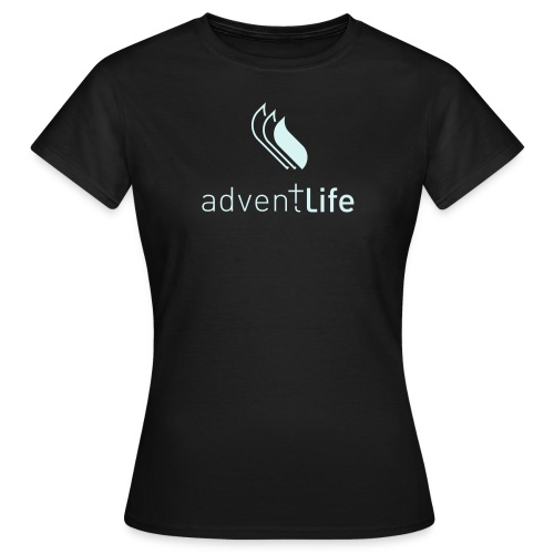 Tshirt Noir FEMME Adventlife Logo réfléchissant - T-shirt Femme