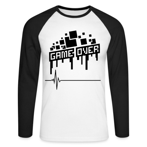 Game Over Tee - Men's Long Sleeve Baseball T-Shirt
