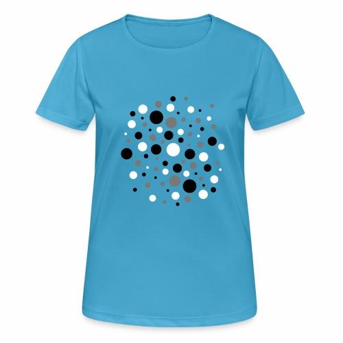 Punkte dreifarbig - Frauen T-Shirt atmungsaktiv