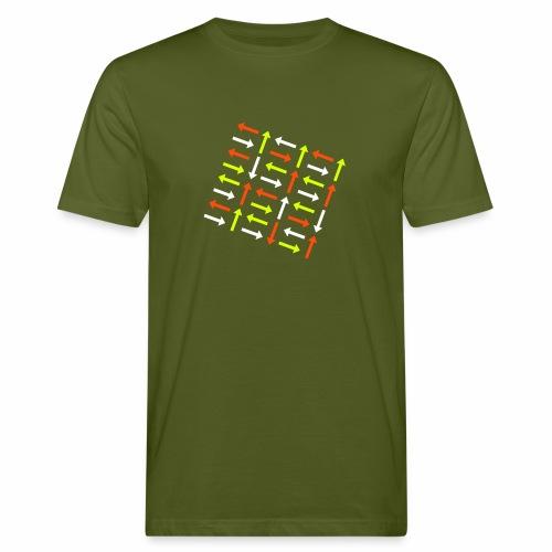 Pfeile dreifarbig - Männer Bio-T-Shirt