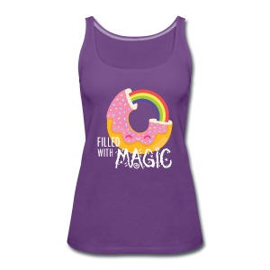 Purple Navy Donut - filled with magic T-Shirts Tops - Women's Premium Tank Top