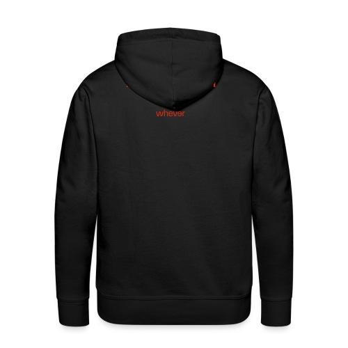 WHR Homme S BlackBowel Black - Sweat-shirt à capuche Premium pour hommes