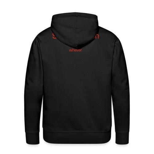 WHR Homme S StatiikCrunSh Black - Sweat-shirt à capuche Premium pour hommes