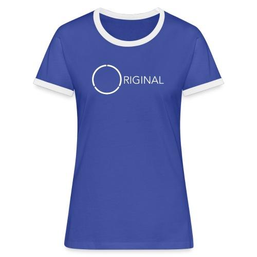Original 12-ring Ladies trim tee 1 - Women's Ringer T-Shirt