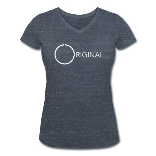 Original 12-ring Ladies tee 2 - Women's Organic V-Neck T-Shirt by Stanley & Stella