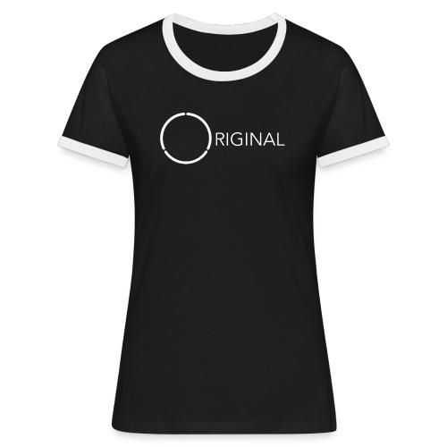 Original 12-ring Ladies trim tee 2 - Women's Ringer T-Shirt