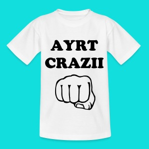 White T-Shirt (AyrtCrazii) - Teenage T-shirt