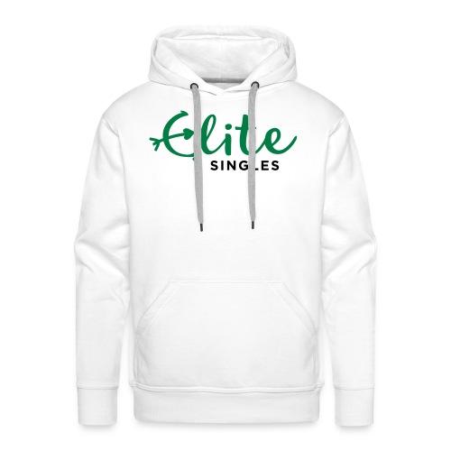 EliteSingles White Hoodie - Männer Premium Hoodie