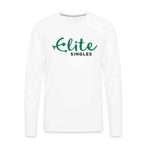 EliteSingles White Male Jersey - Männer Premium Langarmshirt