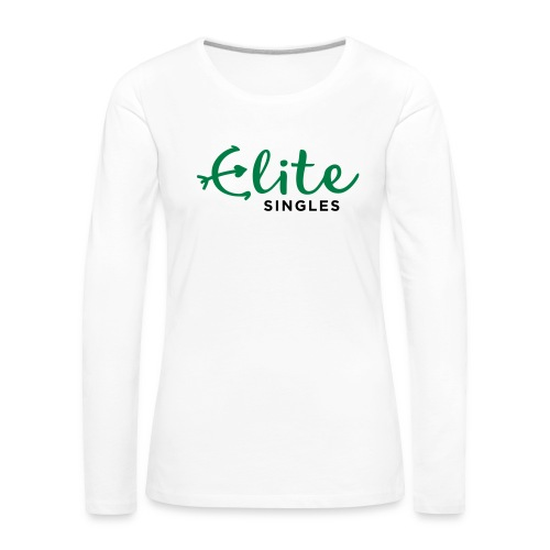 EliteSingles White Female Jersey - Frauen Premium Langarmshirt