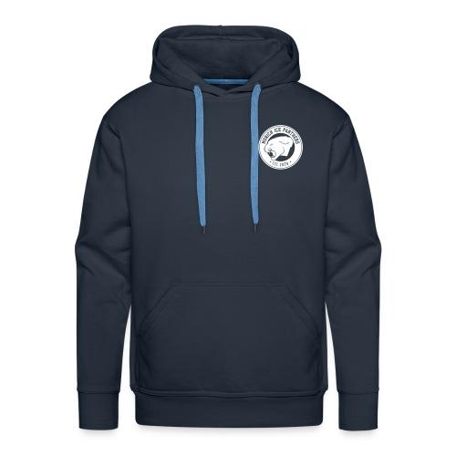 Brand only / front Men's Hoody | Navy / White | Digital Direktdruck - Männer Premium Hoodie