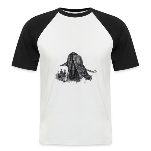 Walking My Triceratops - Men's Baseball T-Shirt