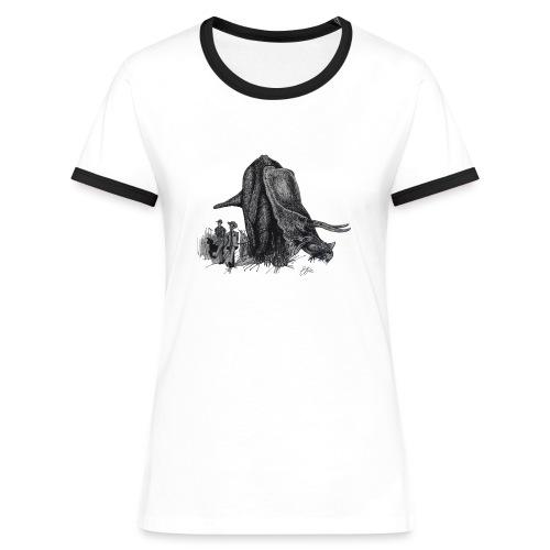 Walking My Triceratops - Women's Ringer T-Shirt