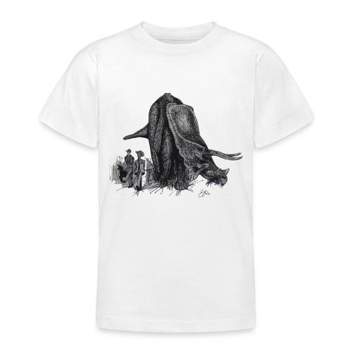 Walking My Triceratops - Teenage T-shirt