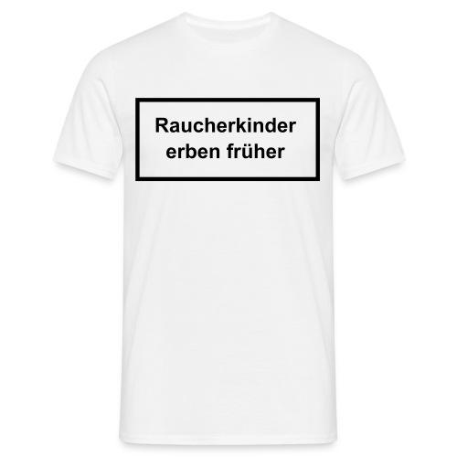T-Shirt Rauchen Weiss - Männer T-Shirt