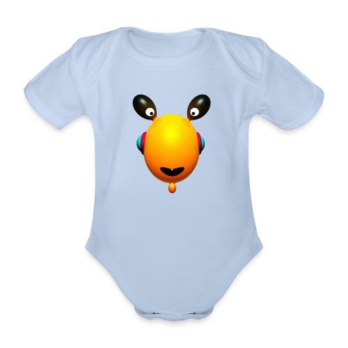 Body Toothies yellow - Body bébé bio manches courtes