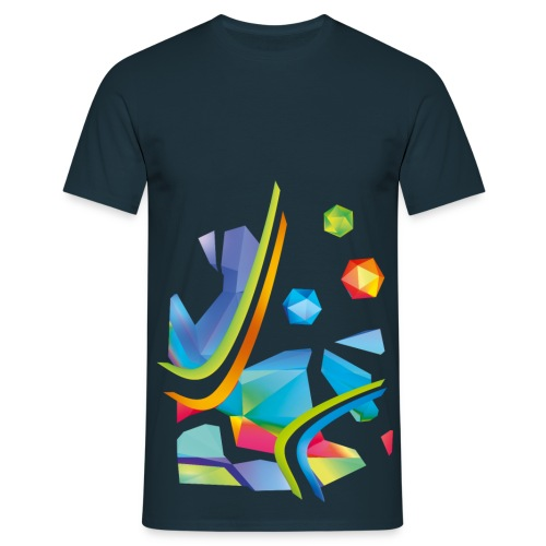 Fresh Works 3D Graffiti - Men's T-Shirt