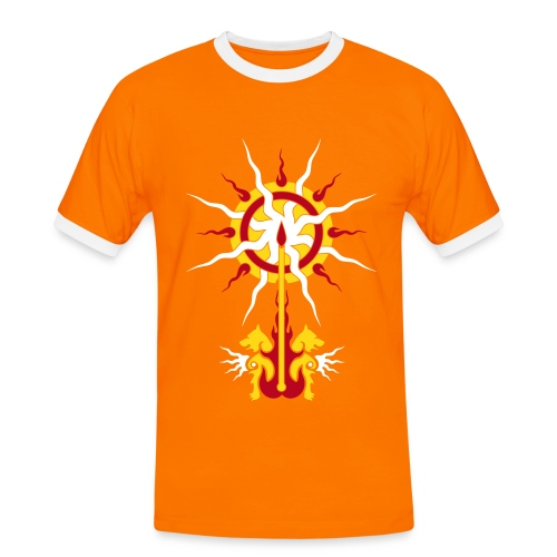 Belenos' Sonnenspeer - Männer Kontrast-T-Shirt