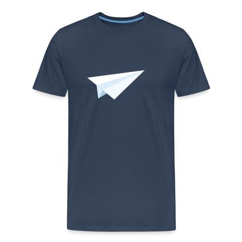 Paperplane - Premium T-skjorte for menn