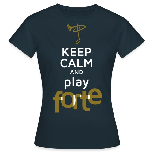 T-Shirt Frau, Folien-Text gold/weiß - Frauen T-Shirt