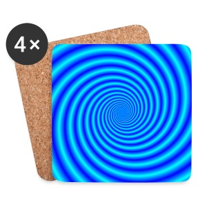 The Swirling Blues - Coasters (set of 4)