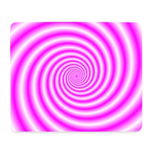 Pink and White Swirl - Mouse Pad (horizontal)