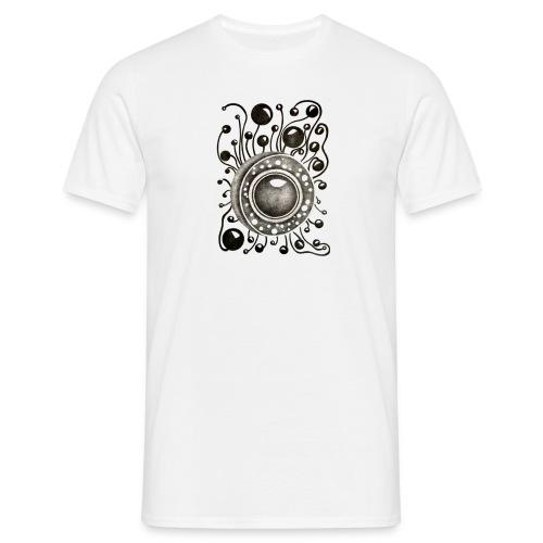Herrenshirt Soundglobe Weiß dubbleprint - Männer T-Shirt